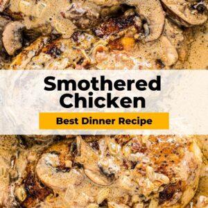 smothered chicken pinterest collage