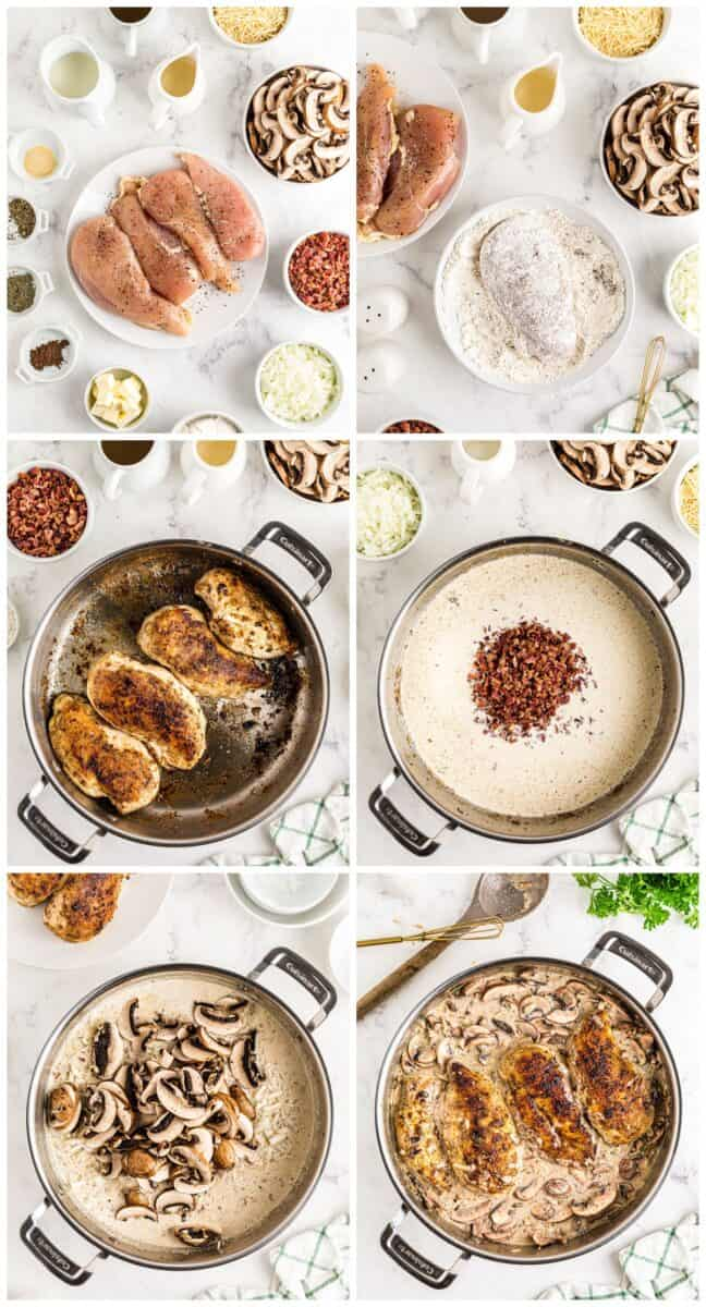 step by step photos for how to make smothered chicken