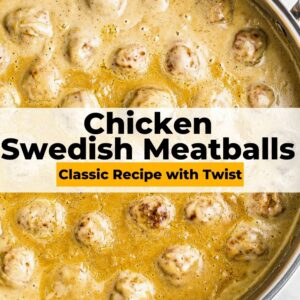 chicken swedish meatballs pinterest collage