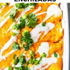 buffalo chicken enchiladas pinterest collage
