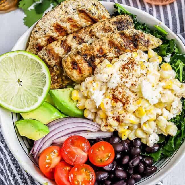 mexican street corn chicken salad google poster image