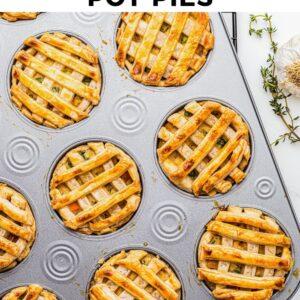 mini chicken pot pies pinterest collage