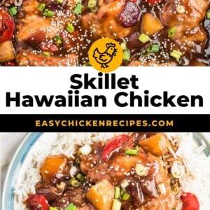 hawaiian chicken skillet pinterest