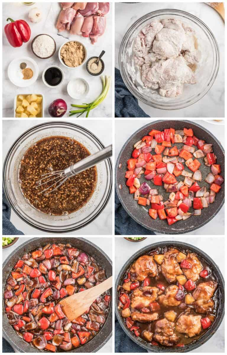 step by step photos for how to make hawaiian chicken