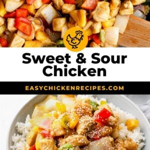 sweet and sour chicken pinterest collage