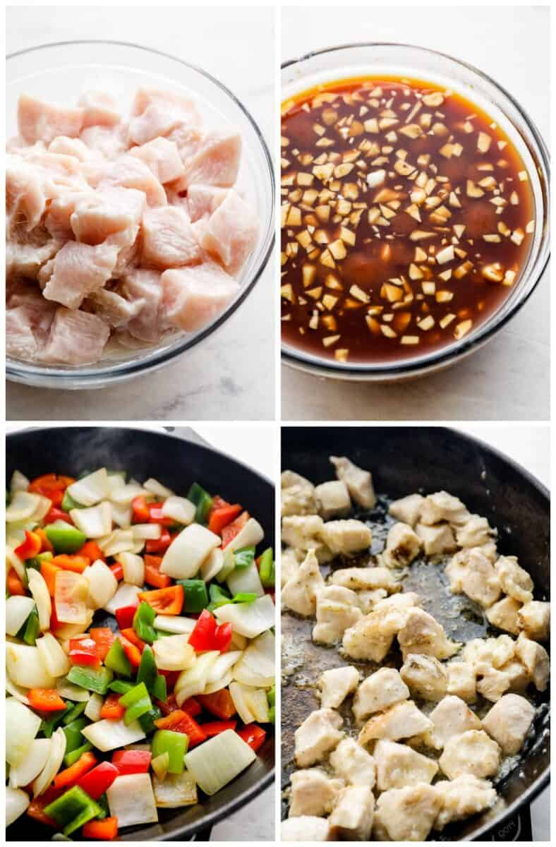 step by step photos for how to make sweet and sour chicken