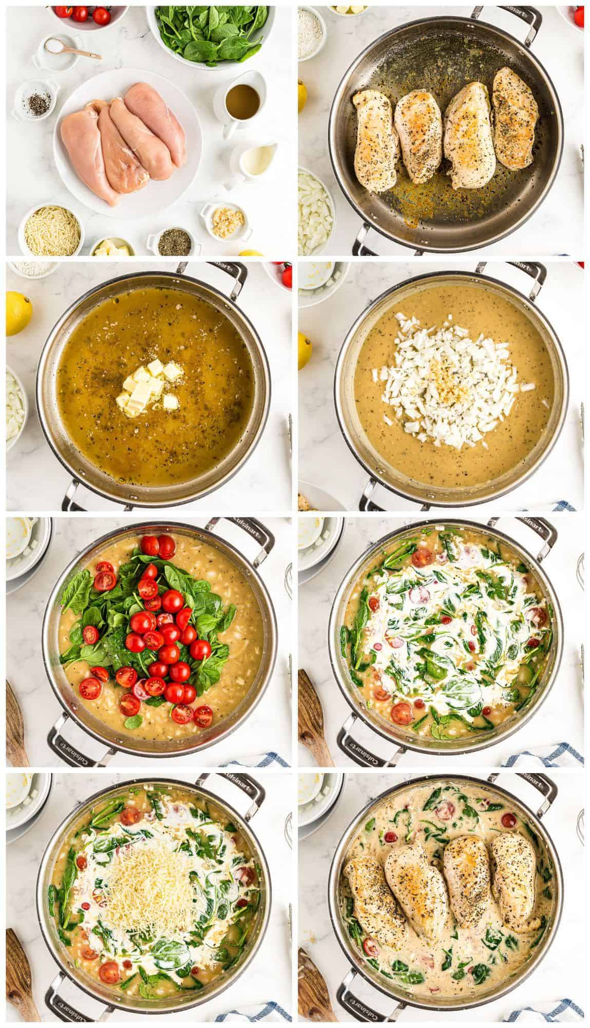 step by step photos for tuscan chicken
