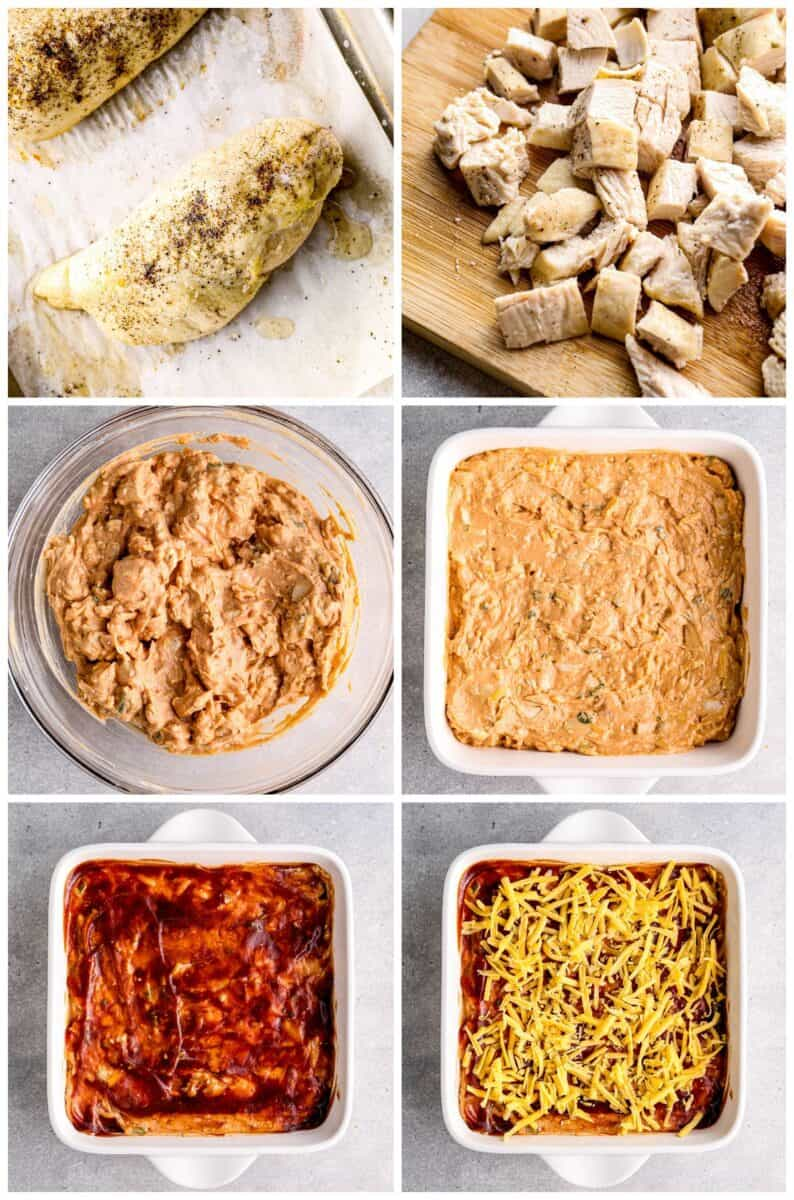 step by step photos for how to make bbq chicken dip