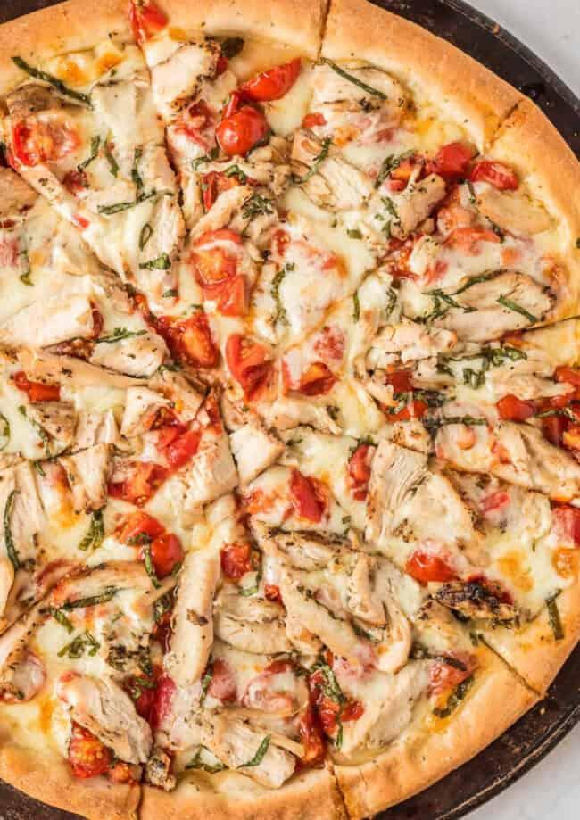 margherita chicken pizza google poster image