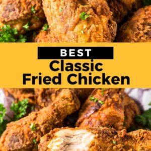 fried chicken pinterest collage