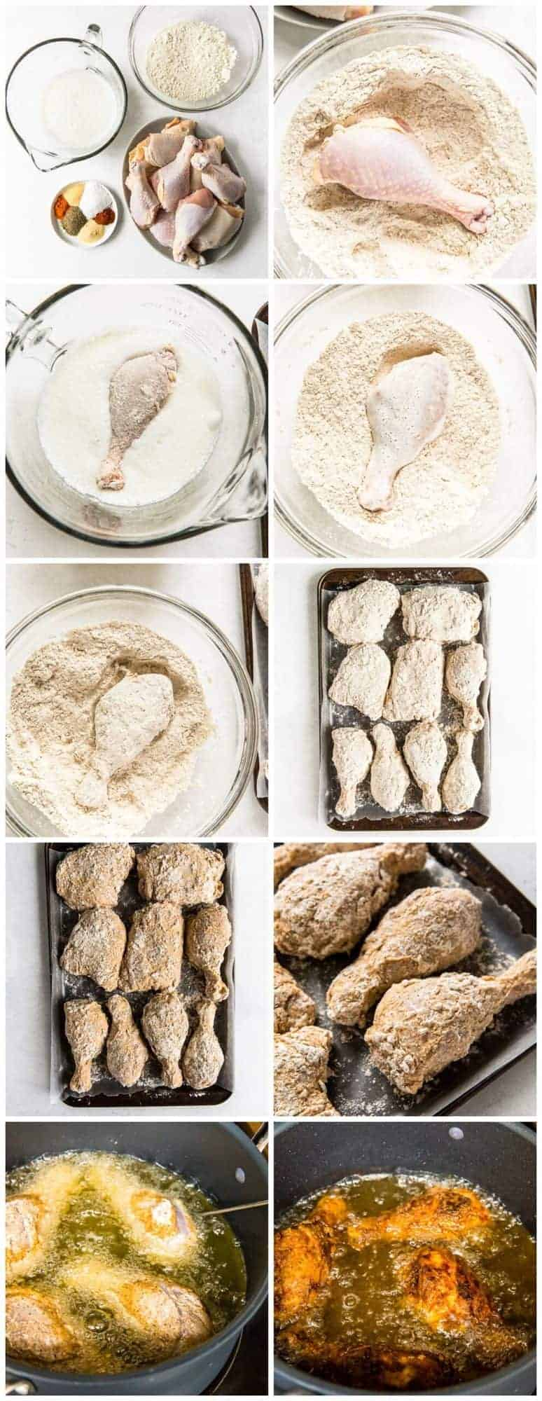step by step photos for how to make fried chicken