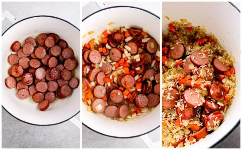 step by step photos of making chicken bog
