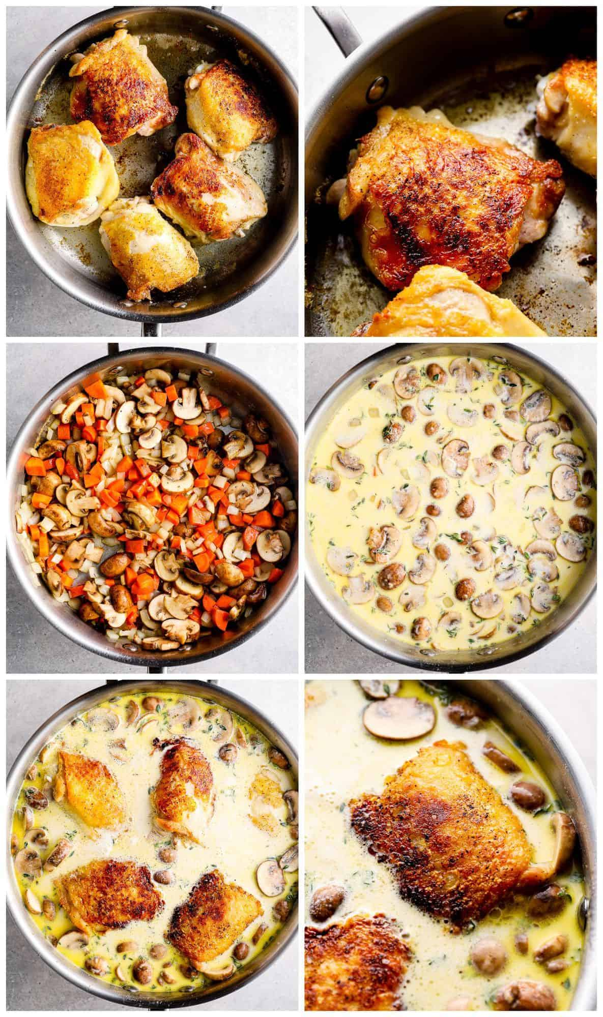step by step photos for how to make chicken fricassee