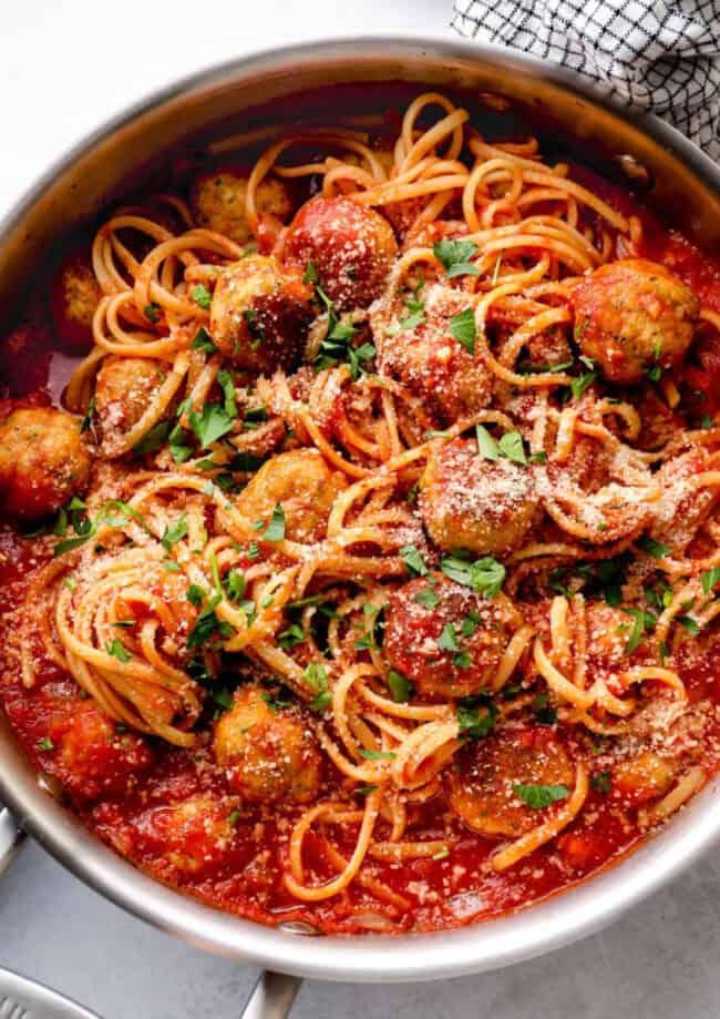 chicken spaghetti and meatballs google