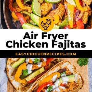 air fryer chicken fajitas pinterest collage