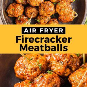air fryer firecracker chicken meatballs pinterest