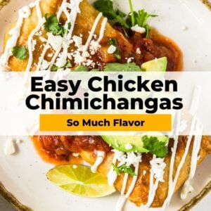 easy chicken chimichangas pinterest collage