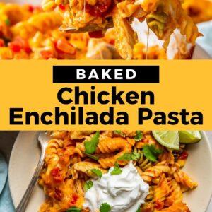 chicken enchilada pasta bake pinterest