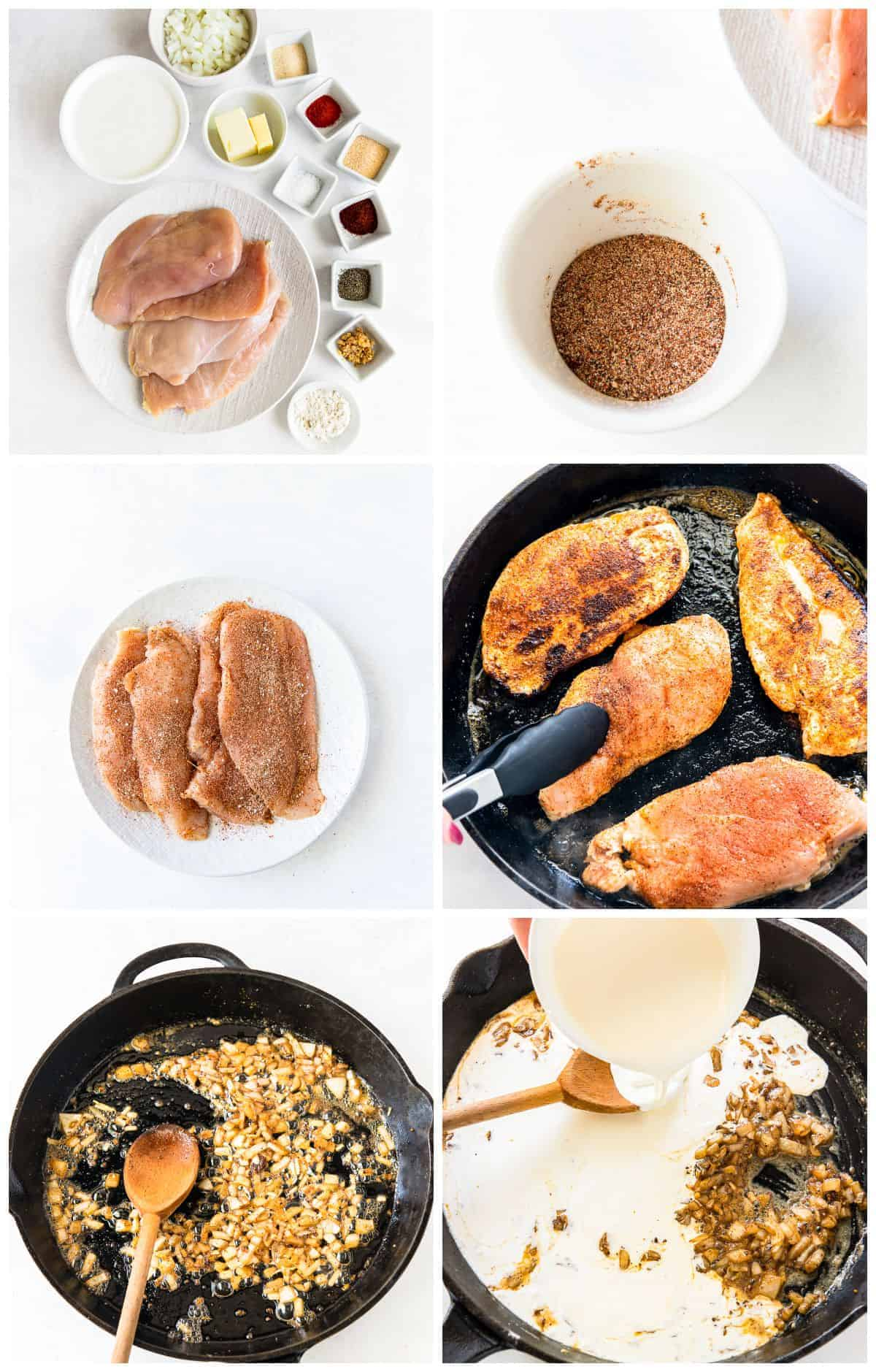 step by step photos for how to make chicken lazone with pasta