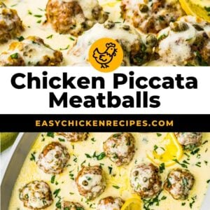 chicken piccata meatballs pinterest