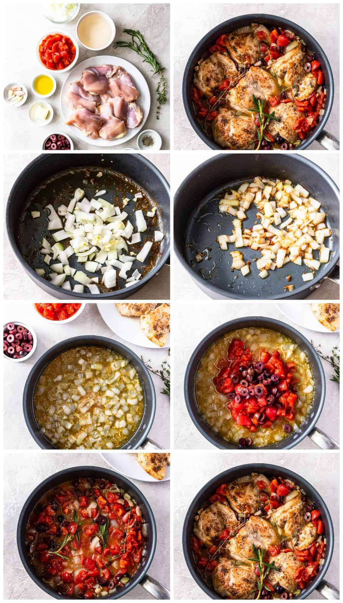 step by step photos for how to make chicken provencal