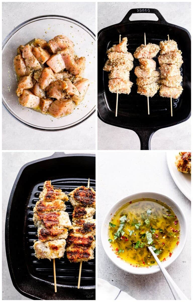 step by step photos for how to make chicken spiedini