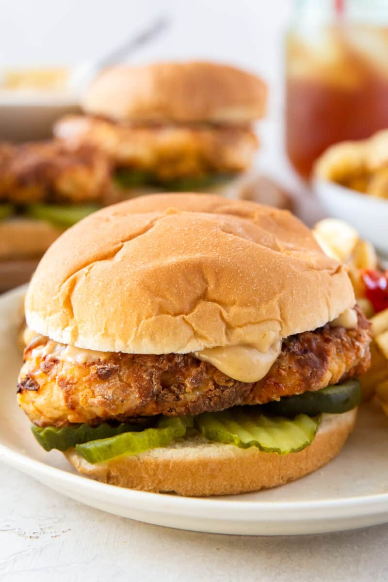 up close copycat chick fil a sandwiches with sauce