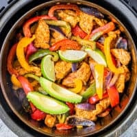 featured air fryer chicken fajitas