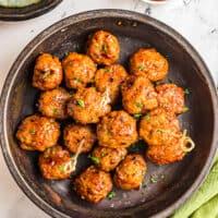 featured air fryer firecracker chicken meatballs