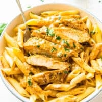 featured chicken lazone with pasta