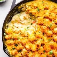featured tater tot chicken casserole