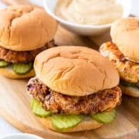 featured copycat chick fil a sandwich and sauce