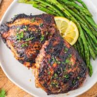 featured grilled chicken thighs