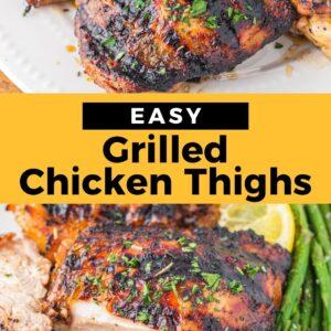 grilled chicken thighs pinterest collage