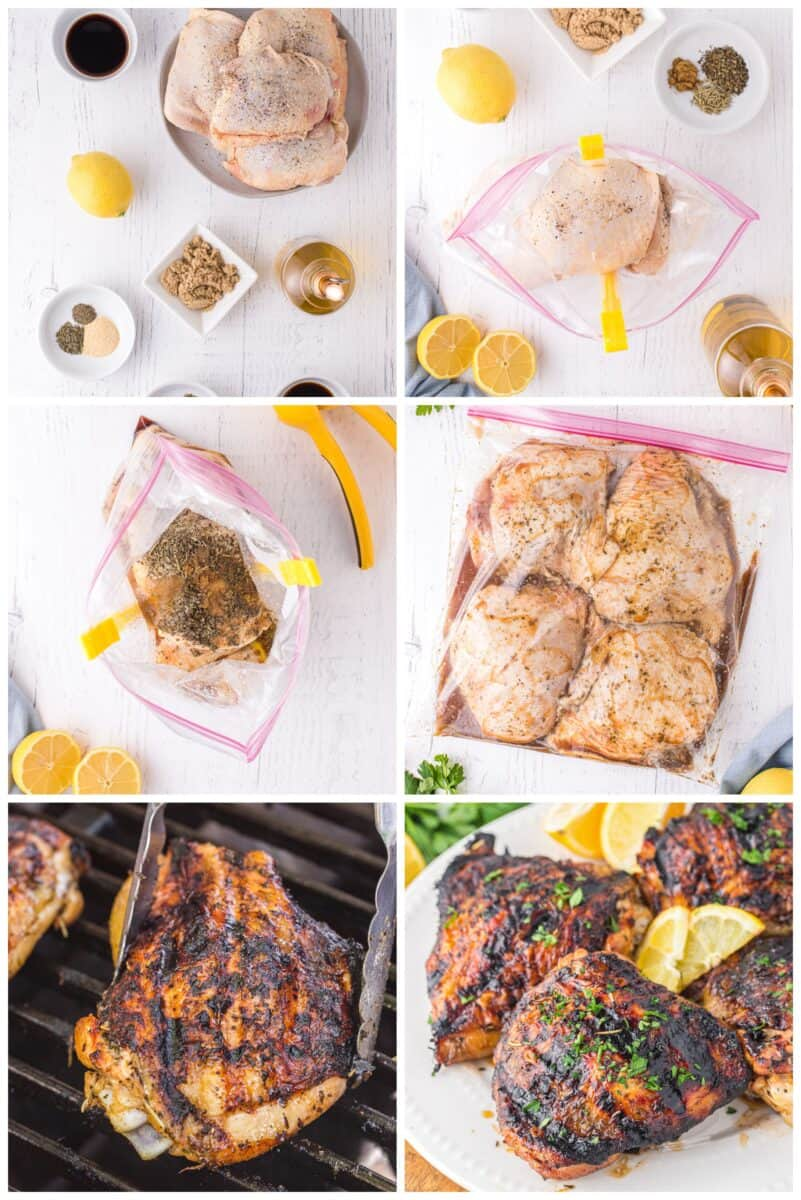 step by step for how to make grilled chicken thighs