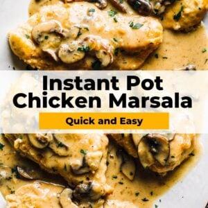 instant pot chicken marsala pinterest collage