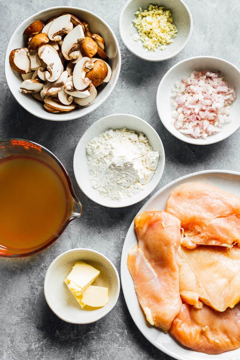 ingredients for making instant pot chicken marsala